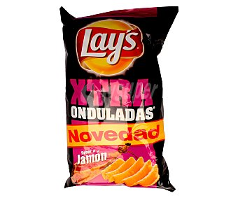 Lay's Xtra Onduladas Patatas fritas extra al jamón Bolsa 190 g