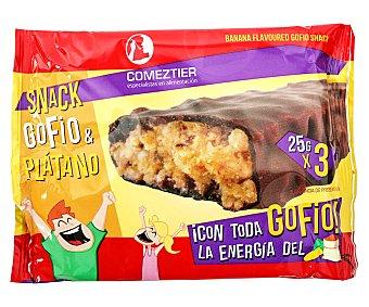 Comeztier Barritas de gofio y plátano 3 uds. 25 g