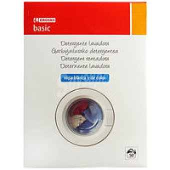Eroski Basic Detergente en polvo Maleta 50 cacitos
