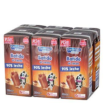 Carrefour Kids Batido al cacao Pack de 6x20 cl
