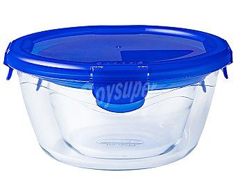 Pyrex Recipiente redondo de vidrio con tapa hermética, de capacidad, cook&go pyrex Cook & Go 1,6 litros