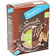 Barritas Sarialis de cereales y chocolate negro sin azúcares añadidos sin gluten Caja 6 unidades ( envase 87 g) Bicentury
