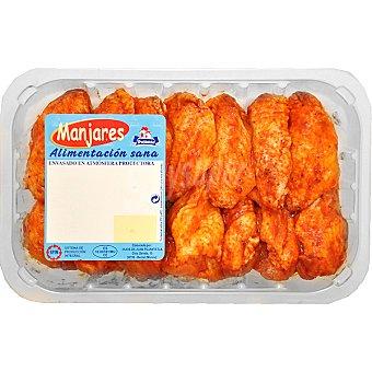 PUJANTE Alas de pollo adobadas bandeja 500 g 10 unidades