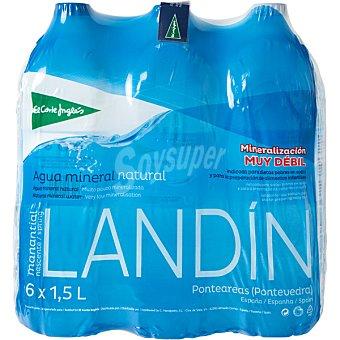 El Corte Inglés Agua mineral natural de mineralización muy débil pack 6 botellas 1,5 l Pack 6 botellas 1,5 l