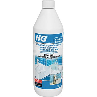 HG Limpiador profesional para manchas de cal agua y oxido botella 1 l Botella 1 l
