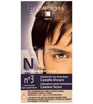 Les Cosmetiques Coloración para hombres, Castaño oscuro Nº 3 1 unidad
