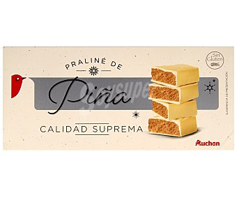 Auchan Turrón praliné de piña 300 gramos