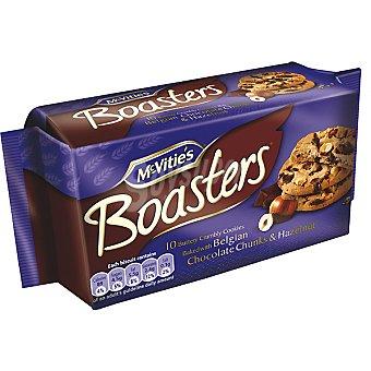 MCVITIE'S BOASTERS Galletas con trozos de chocolate Belga y avellanas Estuche 180 g