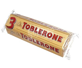 Toblerone Chocolatina con leche 3 unidades de 100 gramos