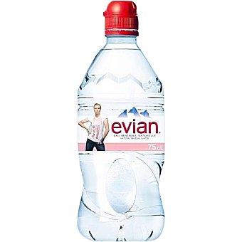 Evian Agua mineral natural botella botella 75 cl con tapón Sport botella 75 cl