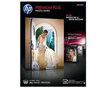 HP Pack de 20 hojas fotográficas Premium Plus Glossy 300 g
