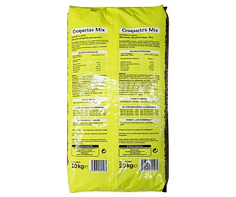 Productos Económicos Alcampo Comida seca para perros a base de croquetas con mix de carne y cereales 20 kg