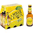 Cerveza sin alcohol pack 6 botella 25 cl Pack 6 botella AMBAR LEMON