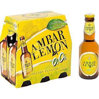 AMBAR LEMON Cerveza sin alcohol pack 6 botella 25 cl Pack 6 botella