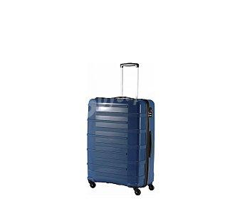 Itluggage Maleta de 68cm, con 4 ruedas y estructura rígida de ABS de color azul marino, airport