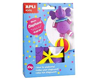 APLI Kit para construir un muñeco con forma de elefante de circo a base de materiales para realizar manualidades APLI