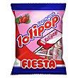 Caramelo con palo sabor fresa Lolipop 7 ud Fiesta