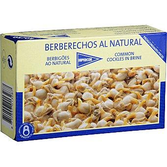 Hipercor Berberechos de Holanda al natural 50-60 piezas Lata 63 g neto escurrido