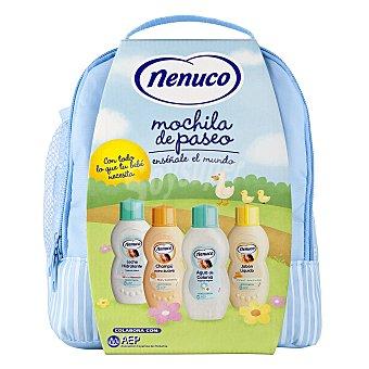 Nenuco Mochila Azul para Bebé (leche hidratante, champú, colonia y jabón) 1 ud