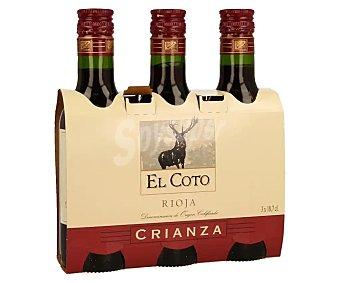 El Coto Vino tinto crianza con denominación de origen Rioja 3 x 18.7 cl