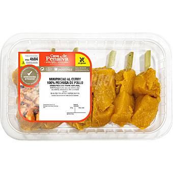 CASA DE PENALVA Mini pinchos de pollo al curry peso aproximado Bandeja 400 g