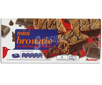 Auchan Brownies individuales con pepitas de chocolate 8 unidades (240 g)