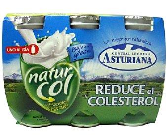 NATURCOL C.L. AST Yogur líquido natural naturcol de C.L. asturiana Pack 6 Unidades de 100 Gramos 6x100g