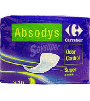 Carrefour Compresa para pequeñas pérdidas de orina ' Absodys Control ' super Paquete de 10 unidades