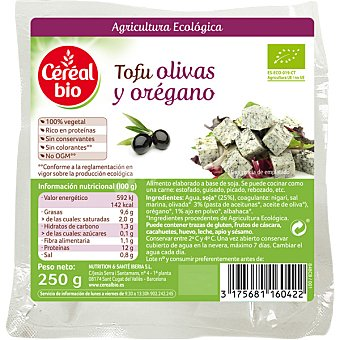 Cereal Bio Tofu con olivas y orégano ecológcio envase 250 g envase 250 g
