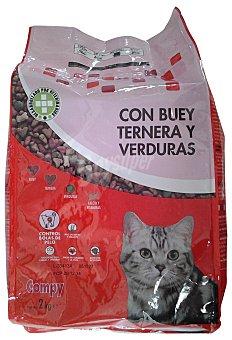 Compy Comida gato croqueta buey- ternera -verduras Paquete 2 kg