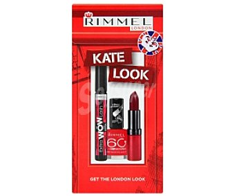Rimmel London Pack color Navidad: Máscara 8ml + Lasting Finish by Kate 4g + 60 Seconds 8ml 1 Unidad
