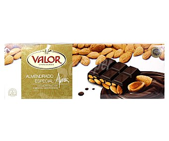 Valor Chocolate puro con almendras 500 gramos
