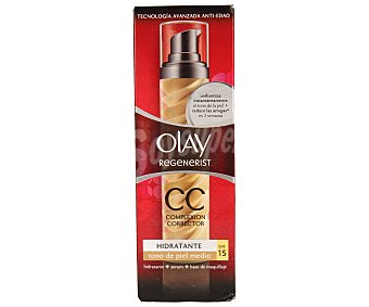 Olay Crema correctora hidratante+serum+base de maquillaje antiedad para tonos de piel medio 50 mililitros