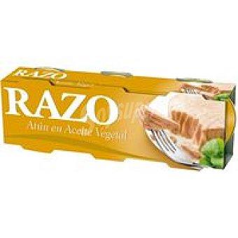 RAZO Atún en Aceite Vegetal Pack de 3 latasx80g