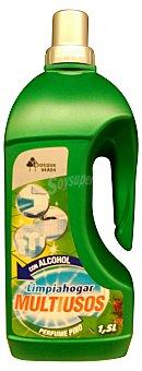 BOSQUE VERDE Limpiahogar multiusos con alcohol aroma pino Botella 1,5 l