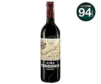 VIÑA TONDONIA Vino Tinto Rioja Reserva Botella 75 Centilitros