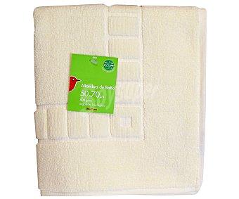 Auchan Alfombra de algodón rizo, color crudo, 50x70 centímetros 1 Unidad