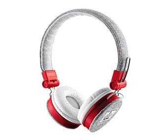 Trust Auriculares tipo casco fyber Gris/rojo, plegables, mando a distancia, micrófono, Jack 3,5mm Gris/rojo, plegables, mando a distancia, micrófono, Jack 3,5mm