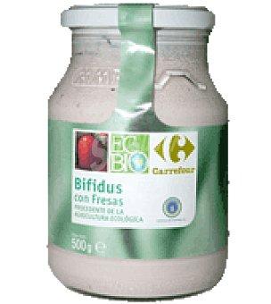 Carrefour Bio Bífidus con fresas 500 g