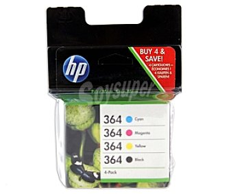 Hp Pack cartuchos 4 Colores 364 Nº 364 negro+color