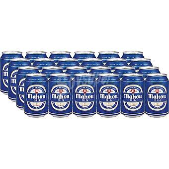 Mahou Cervezas sin alcohol Pack 24 lata 33 cl
