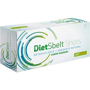 DIET CLINICAL DIETSBELT SHOTS Detoxificante y drenante natural sabor guaraná 14 viales estuche 160 g Estuche 160 g