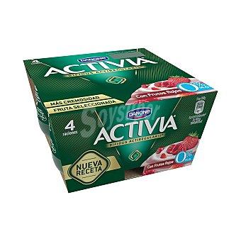 Activia Danone Activia 0% con frutos rojos 4 unidades de 125 g