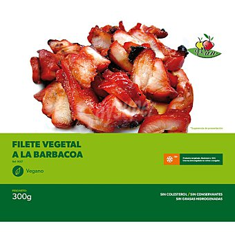 VEGESAN filete vegetal a la barbacoa sin colesterol congelado vegano envase 300 g