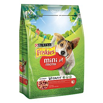 Friskies Purina Vitafit Mini Menu Perro Adulto con Buey 3kg 3 kg