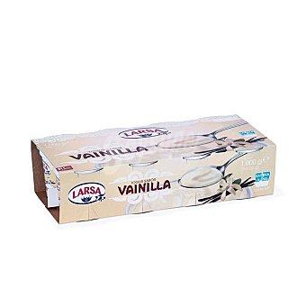 Larsa Yogur sabor vainilla pack 8 unidades 125 g pack 8x130 g