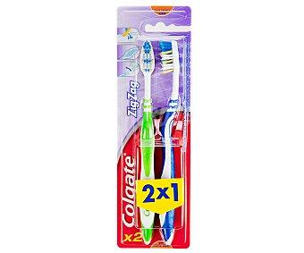 Colgate Cepillo dental suave Zig-zag Pack 2 unid