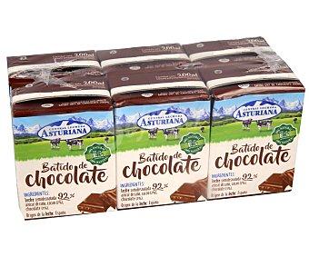Central Lechera Asturiana Batido de chocolate 100% natural 6 x 200 ml