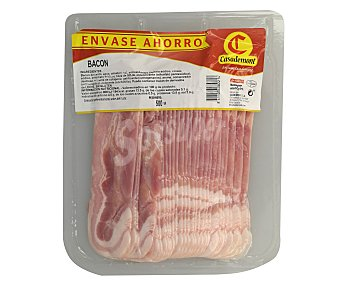 Casademont Bacon sin gluten en cómodas lonchas individuales 500 gr