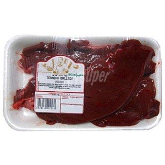Ternera gallega hígado en filetes peso aproximado Bandeja 400 g